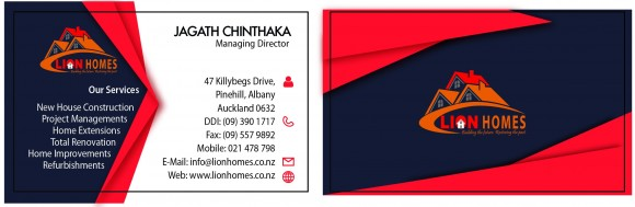 Lion Homes Visiting Card