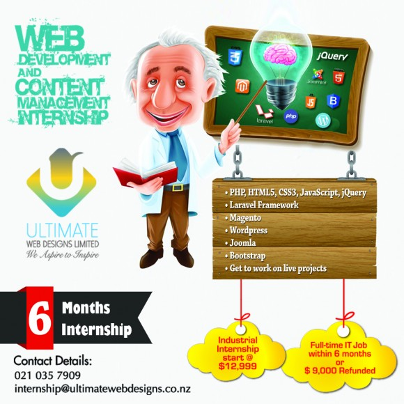 Ultimate Web Designs Internship